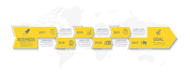 Illustration infographie modèle de conception graphique de présentation des informations commerciales