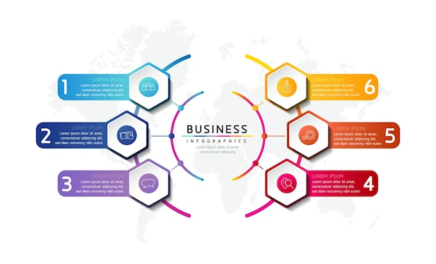 Illustration infographie modèle de conception informations marketing avec 5 options ou étapes