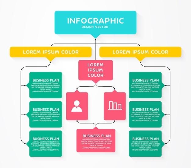 Illustration infographique de diagramme
