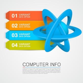 Illustration d'une information d'atome. illustration vectorielle