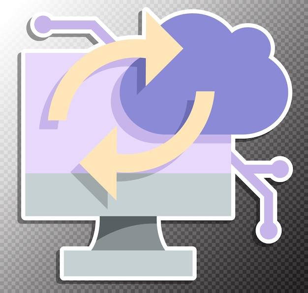 Illustration de l'informatique en nuage dans un style plat