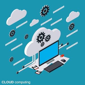 Illustration de l'informatique en nuage