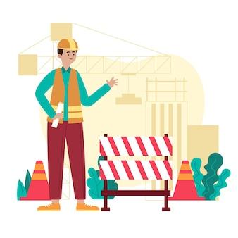 Illustration d'ingénierie et de construction