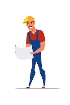 Illustration de l'ingénieur en construction
