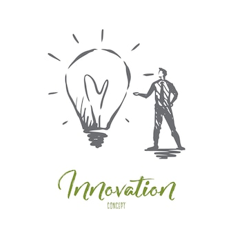 Illustration de l'innovation dessinée à la main