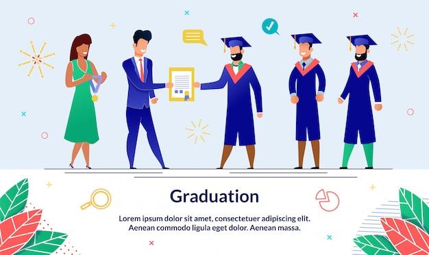 Illustration inscription graduation, slide.