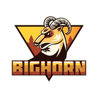 Illustration de l'insigne du logo bighorn sports team moderne