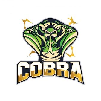 Illustration de l'insigne du logo équipe moderne cobra sports