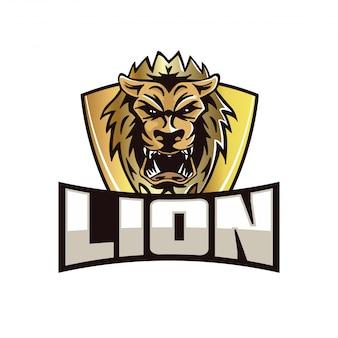 Illustration de l'insigne du logo équipe moderne sports lion