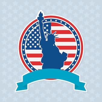 Illustration de l'insigne de la statue de la liberté