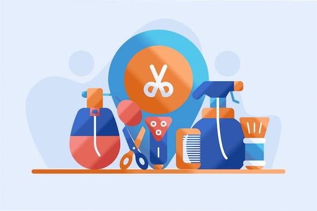 Illustration d'instrument de salon de coiffure
