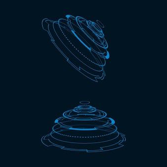 Illustration De L'interface Utilisateur Futuriste Vecteur Premium