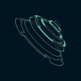 Illustration de l'interface utilisateur futuriste