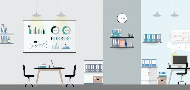Illustration intérieure de bureau