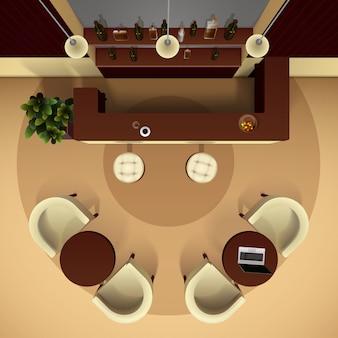 Illustration intérieure de la salle