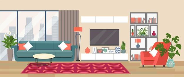 Illustration intérieure de salon