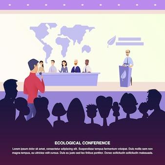 Illustration interview groupe de professeur journaliste