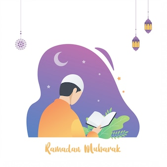 Illustration islamique du ramadan