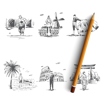 Illustration isolée dessinée à la main