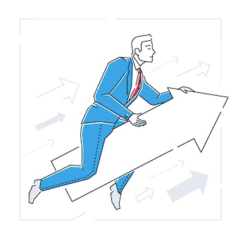 Illustration isolée du style de conception de la ligne de réglage de la cible