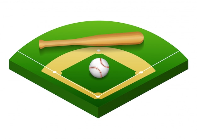 Illustration isolée du terrain de baseball