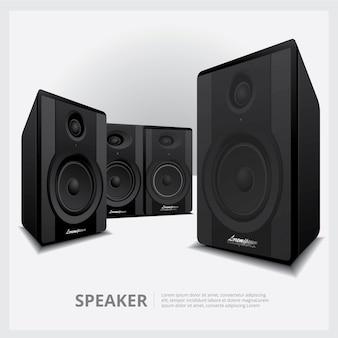 Illustration isolée de haut-parleurs