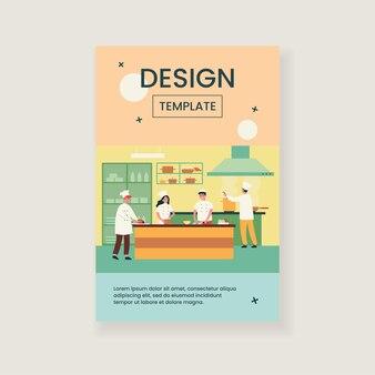 Illustration isolée de l'intérieur de la cuisine de cuisine professionnelle