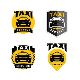 Illustration isolée de logo de taxi plat