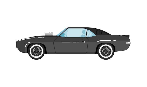 Illustration isolée de voiture muscle classique