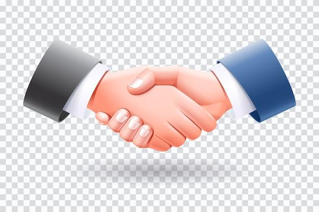 Illustration d'isoler les gens d'affaires de poignée de main