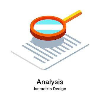Illustration isométrique d'analyse