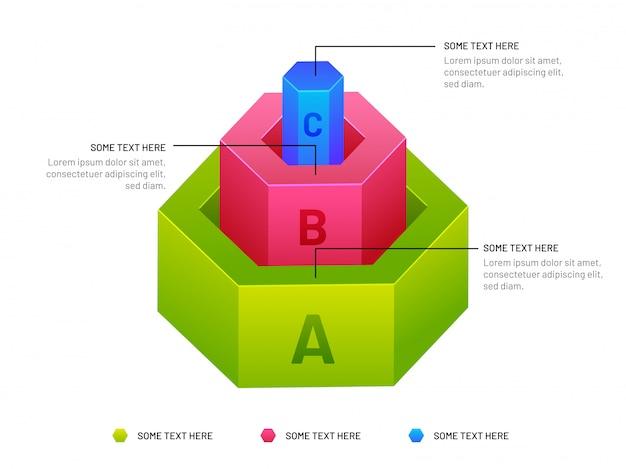 Illustration isométrique de l'élément infographique