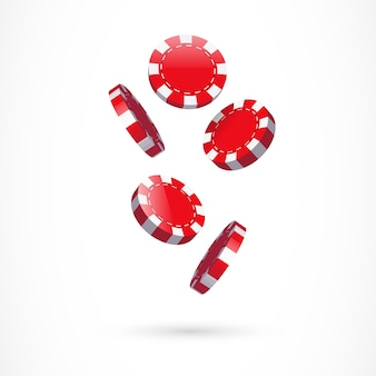 Illustration de jetons de casino