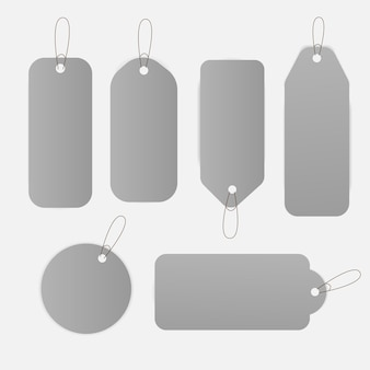 Illustration de jeu de conception d'étiquettes de prix de vente