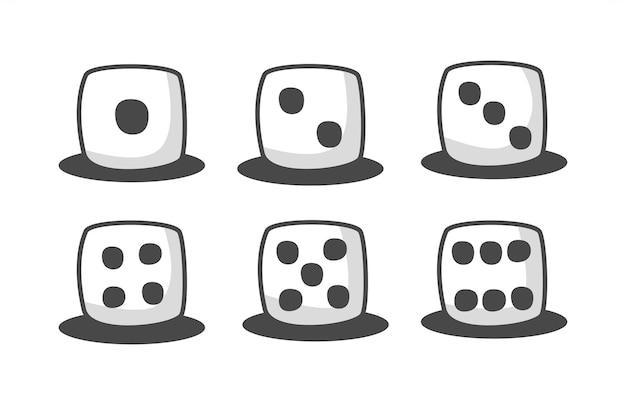 Illustration de jeu de cubes de dés