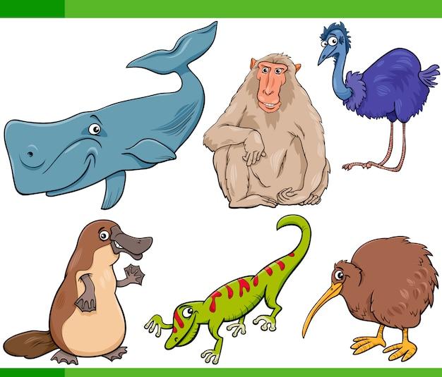 Illustration de jeu de dessin animé animaux sauvages