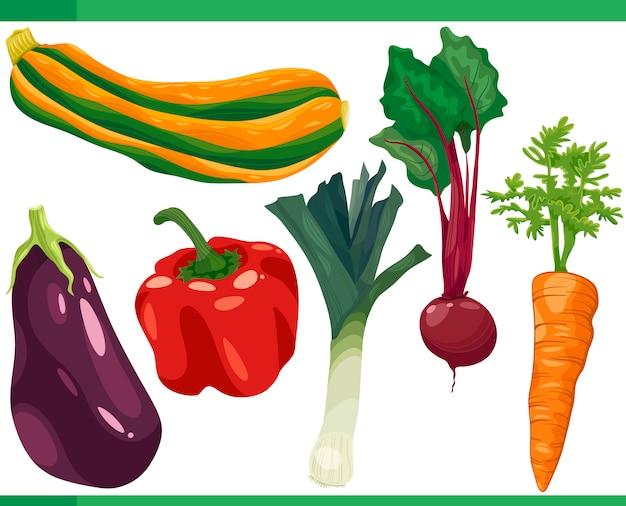 Illustration de jeu de dessin animé de légumes