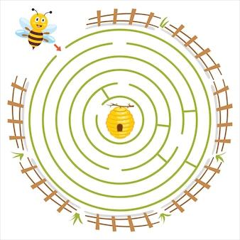 Illustration de jeu de labyrinthe pour les enfants