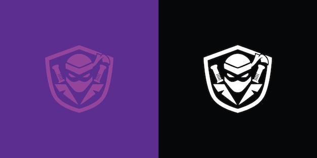 Illustration de jeu de logo de mascotte de guerrier assassin vecteur premium