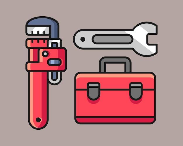 Illustration de jeu d'outils de plombier