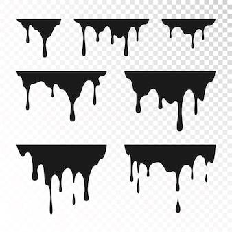 Illustration de jeu de peinture dégoulinant