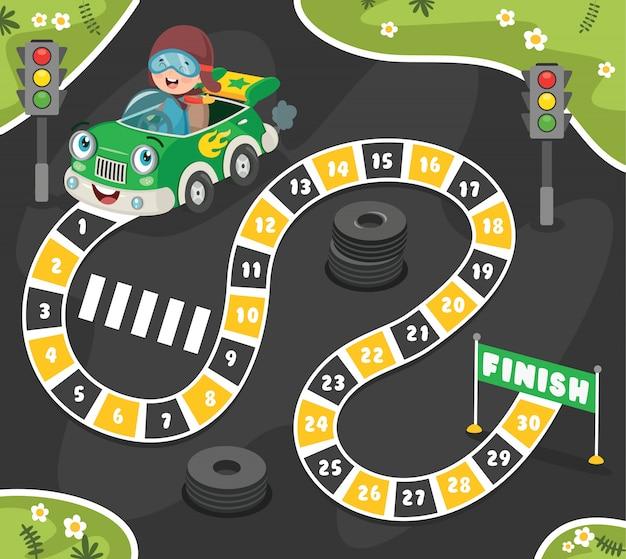 Illustration de jeu de plateau pour l'éducation des enfants