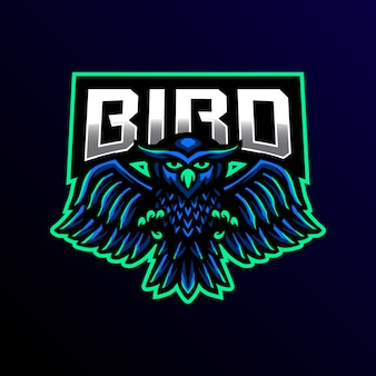 Illustration de jeu pour le logo mascotte hibou
