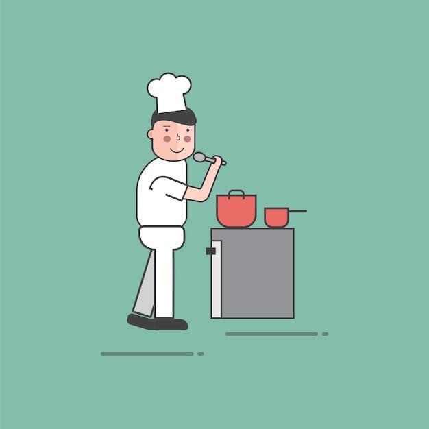 Illustration de jeu de vecteur de restaurant