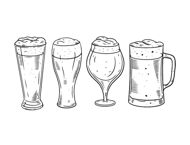 Illustration de jeu de verres à bière