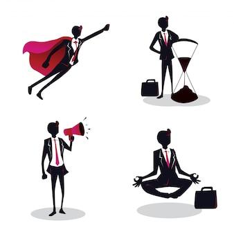 Illustration de jeune entrepreneur créatif concept