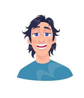Illustration d'un jeune homme. personnage de dessin animé de gars adulte.