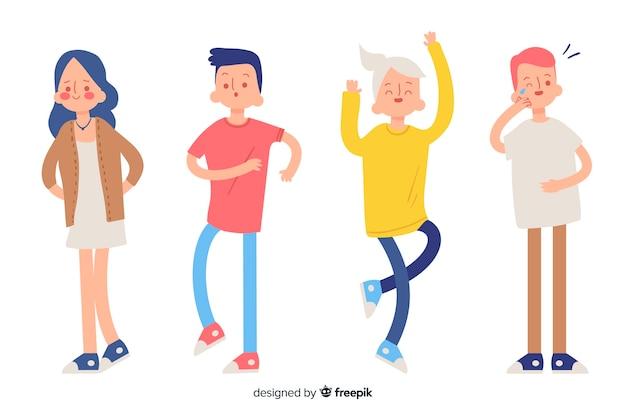 Illustration de jeunes avec différentes émotions