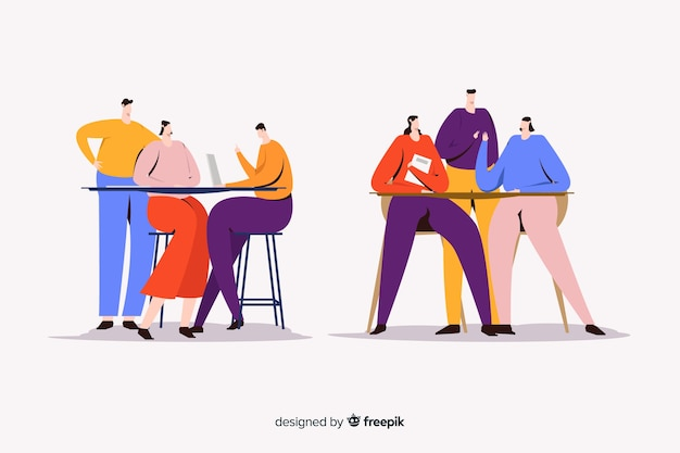 Illustration de jeunes femmes qui passent du temps ensemble