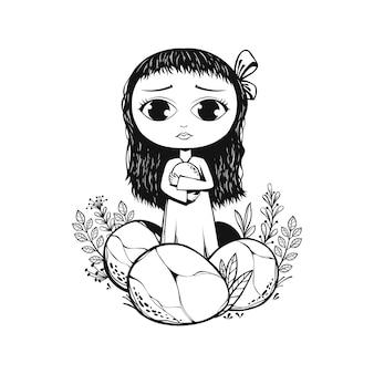 Illustration de jolie fille
